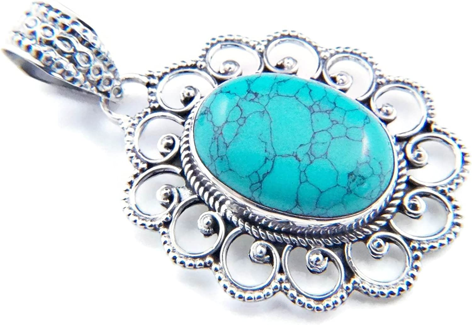 NO:MAH 83-15 Pendentif argent 925 sterling turquoise