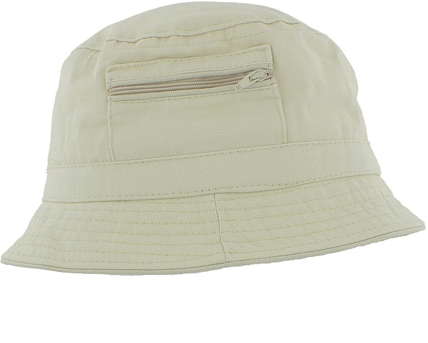 Fishing Cap 2 Pockets Included Bucket Hat Breiter Fishermans Hat 100/% Cotton Foldable and Washable