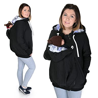 13df3fa1608a FUN2BEMUM 3in1 Maternity Baby Back Carrying Hoodie Babywearing Jacket  Charcoal NP04 (4XL 5XL -