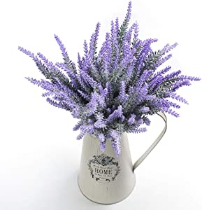 Artificial Lavender Flowers Bouquet Fake Lavender Plant for Wedding Home Garden Decor 8 Bundles