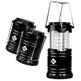 Amazon Price History for:Etekcity 3 Pack Portable Outdoor LED Camping Lantern with 9 AA Batteries (Black, Collapsible)
