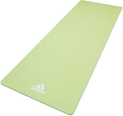 Amazon Com Adidas Yoga Mat 8mm Aero Green Sports Outdoors