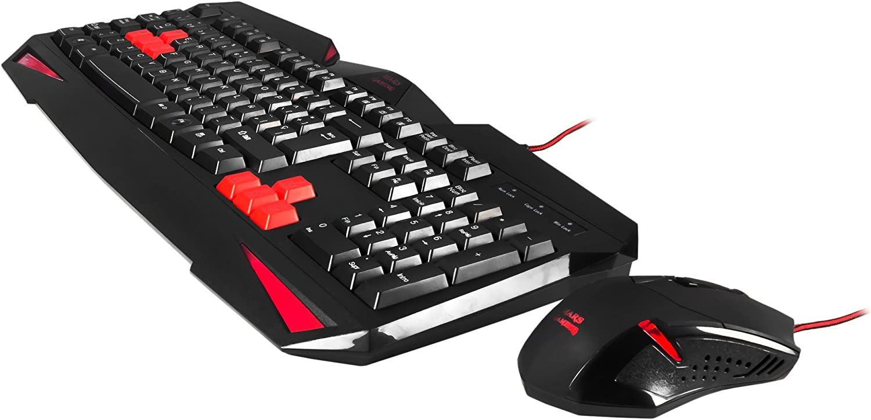 Mars Gaming MCP1, Pack Teclado Antighosting y Ratón Gaming 2800DPI, LED Rojo, ES: TACENS: Amazon.es: Informática
