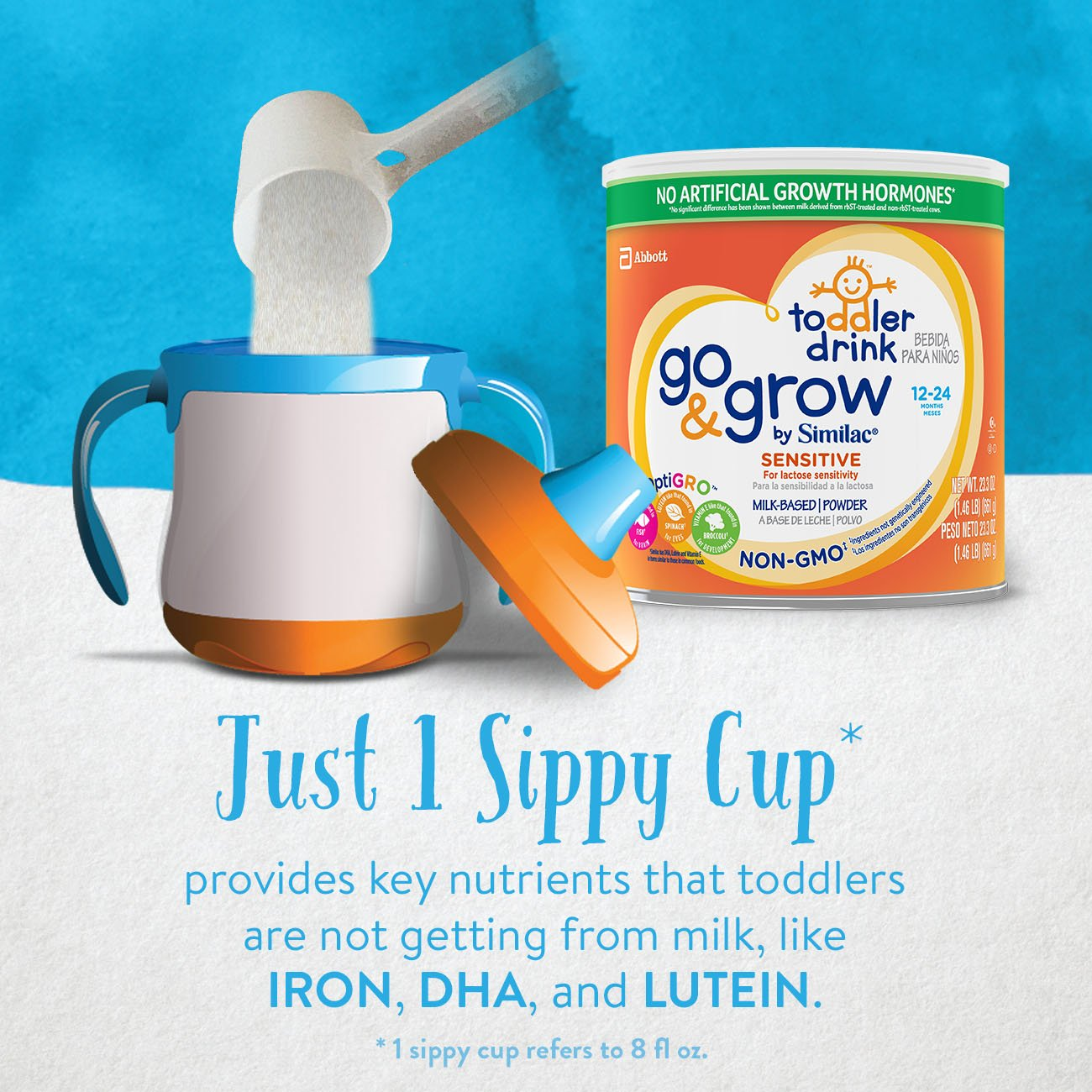 Similac Go and Grow Sensitive Toddler Drink, Stage 3 Powder, 10.9 Pound by Similac (Image #5)