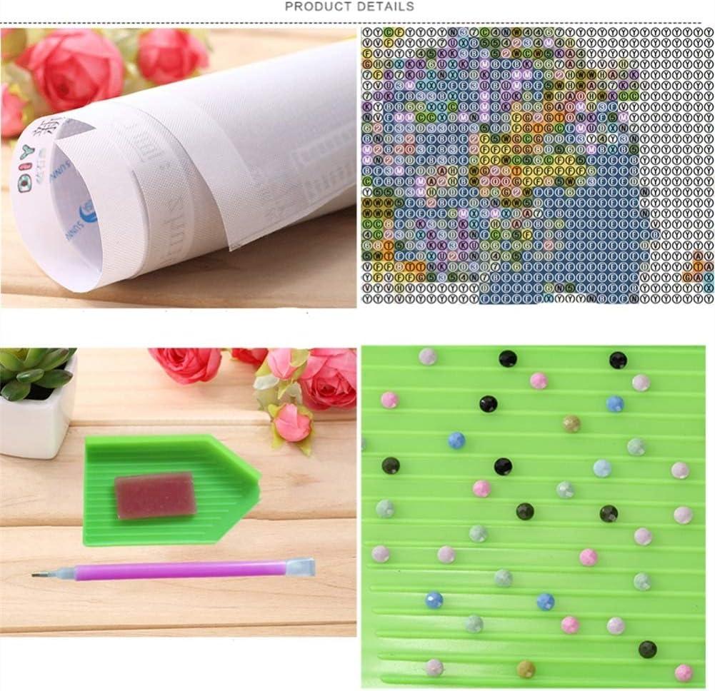 Voller Bohrer 5d Diamant Malerei Kits Kreuzstich Handwerk Kit DIY Kits Kinder Erwachsene Malen nach Zahlen Kits Zebra, 25x30cm, Round Drill