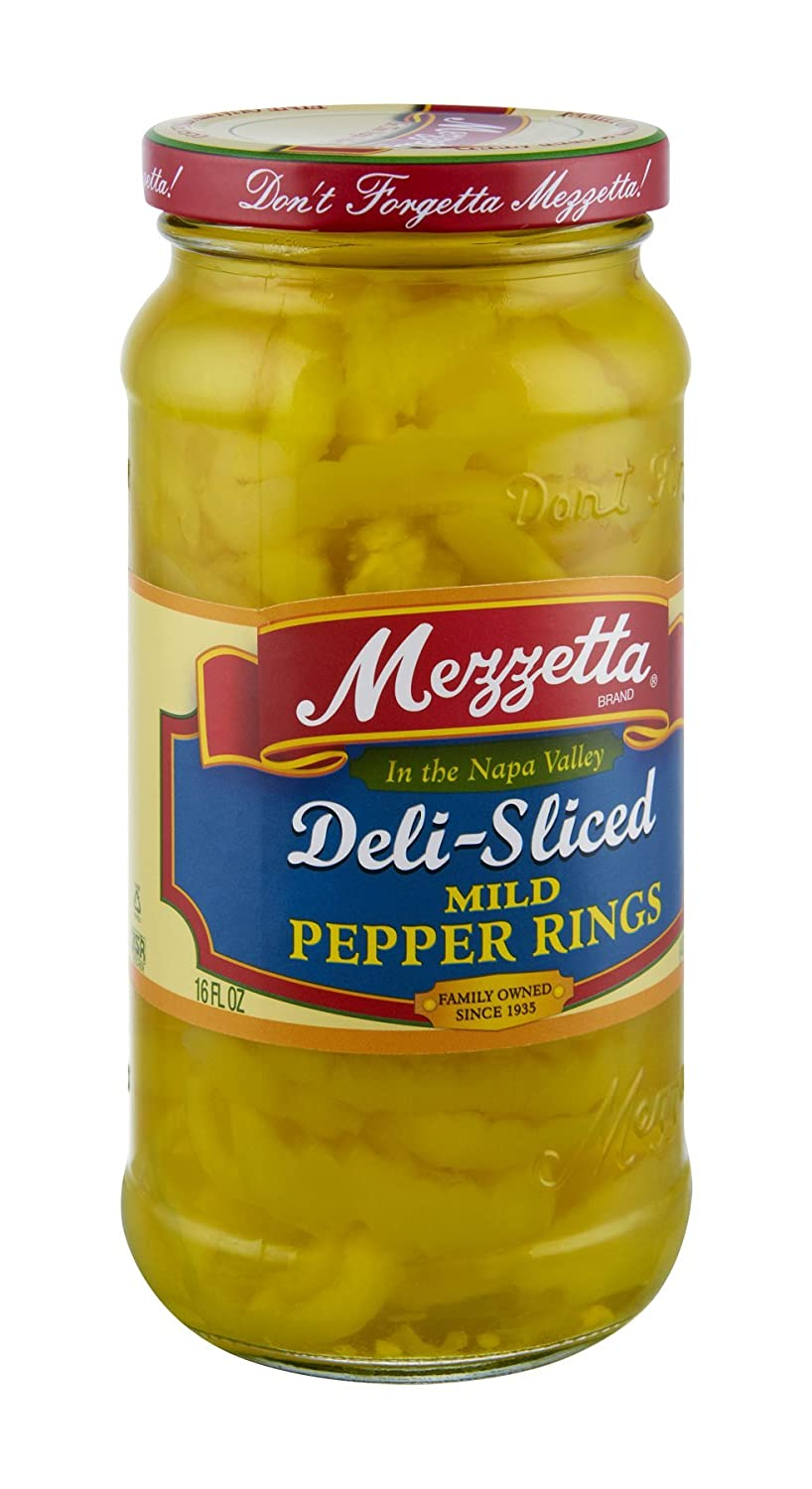 G L Mezzetta Peppers, Mild Ring, 16-Ounce (Pack of 6)