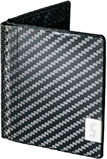 product image for Common Fibers Mens Slim Real Carbon Fiber Bifold Wallet with RFID Credit Card Protection (Black)