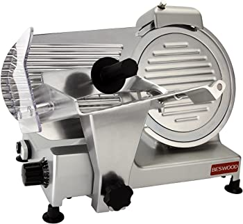 """Beswood Chromium-plated Electric Deli 10"""" Meat Slicer"""