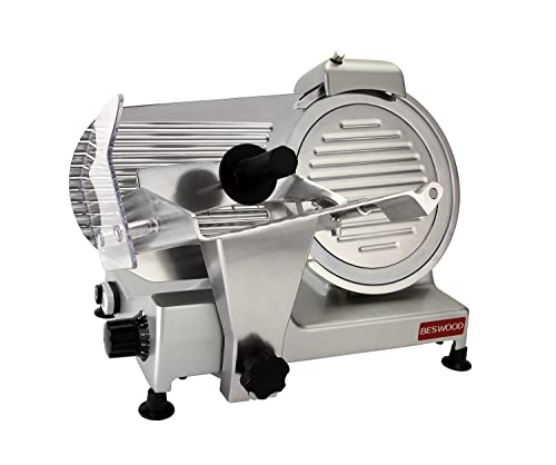 BESWOOD 10Inch Premium Chromium-plated Electric Food Slicer