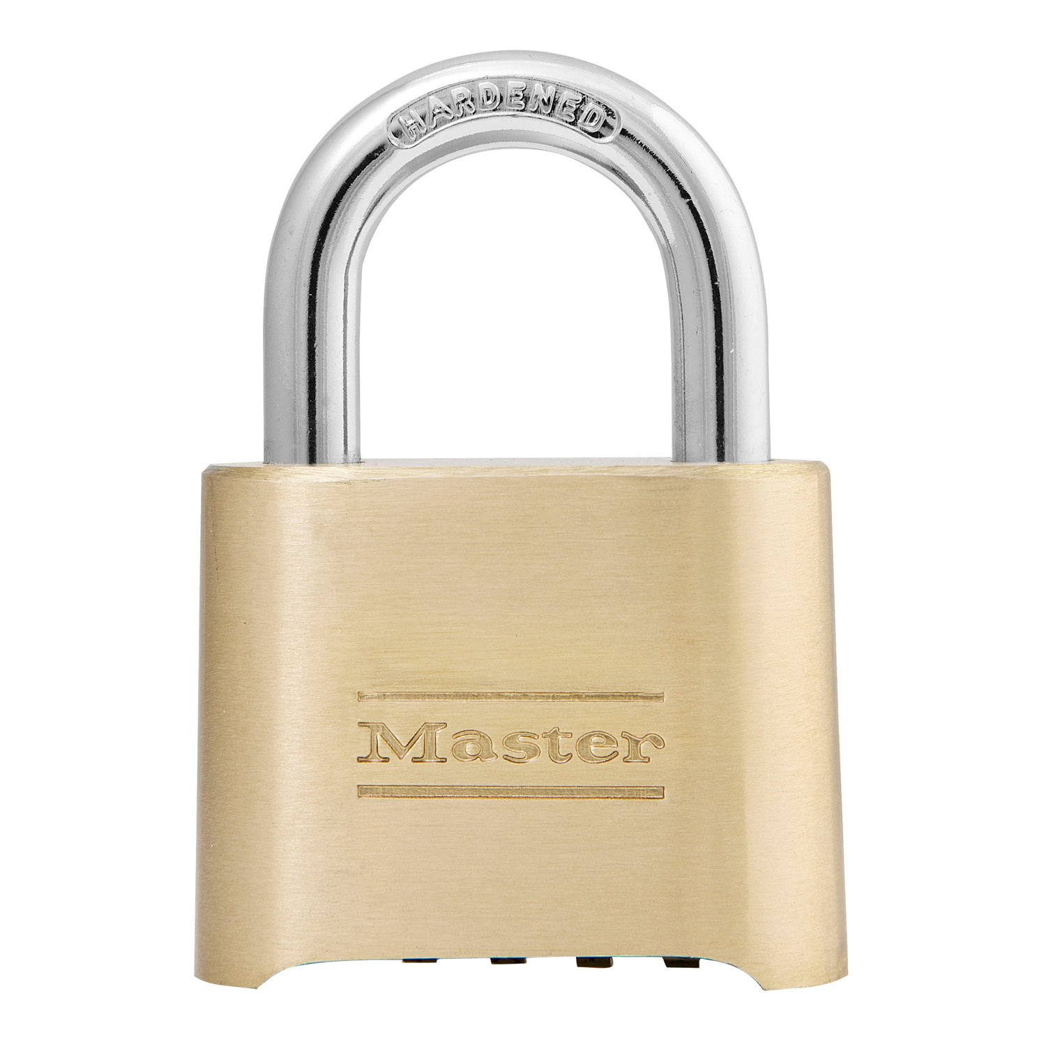 Master Lock 175D Set Your Own Combination Padlock, 1 Pack, Brass Finish