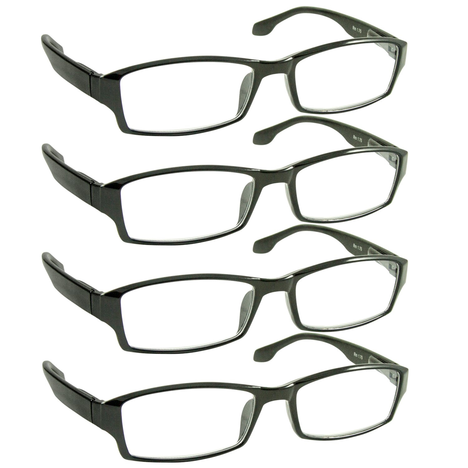 Amazon.com: Reading Glasses - 6 Pack - 3 Black & 3