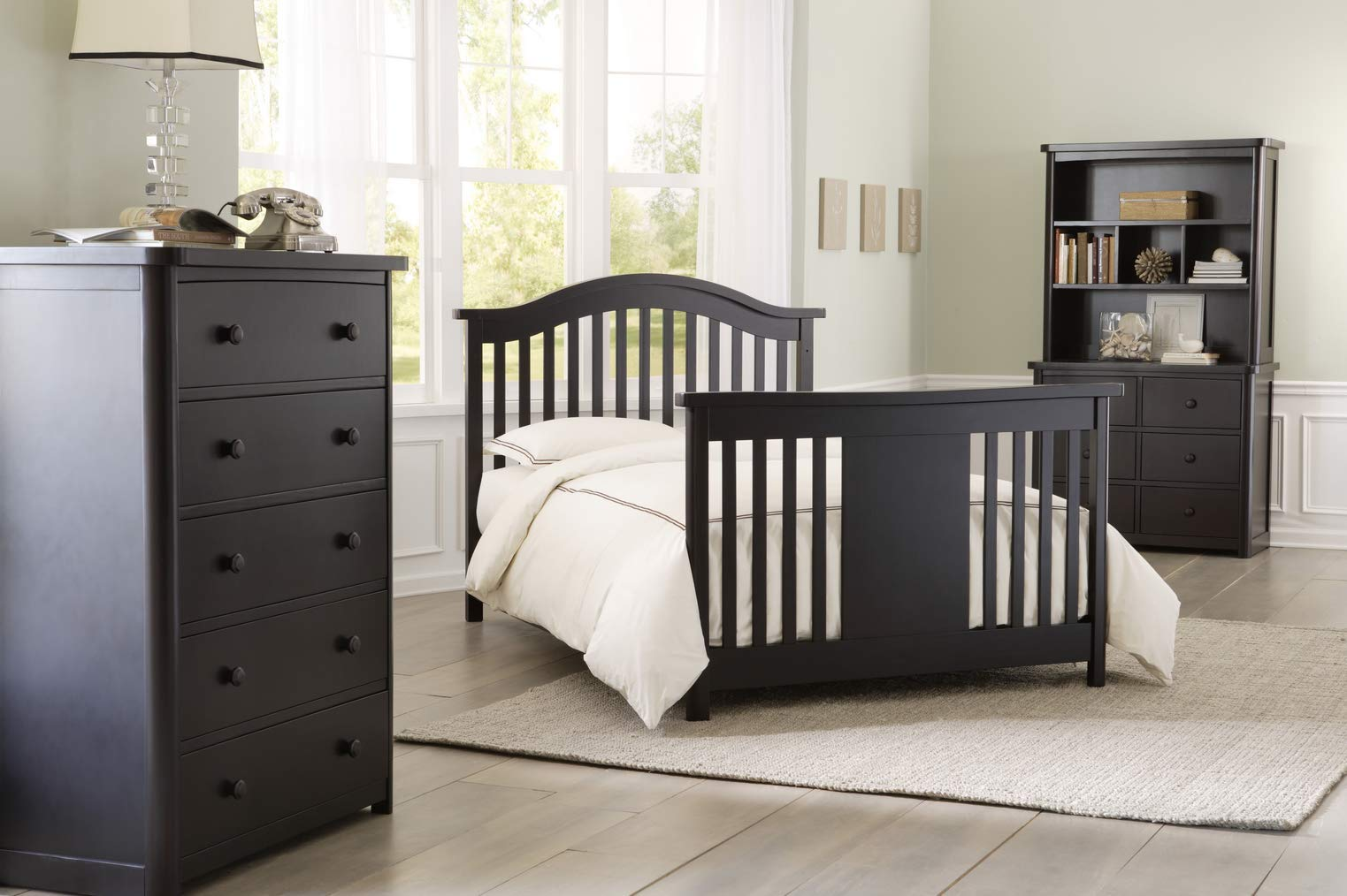 Full Size Conversion Kit Bed Rails for Baby Appleseed Beaumont, Chelmsford, Davenport, Kennedy, Millbury, Stratford Cribs (Espresso) by CC KITS (Image #9)