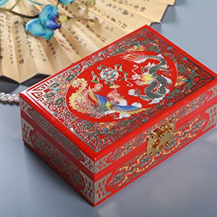 Amazon Com Wodeshijie Classic Wooden Inlaid Jewelry Boxes