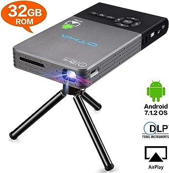 OTHA Mini Proyector, Proyector Portátil, DLP LED Video Proyectors ...