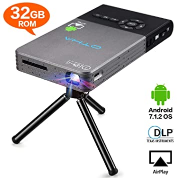 OTHA Mini Proyector, Portátil DLP LED Video Proyectors , 32GB Rom HDMI input Android Teatro