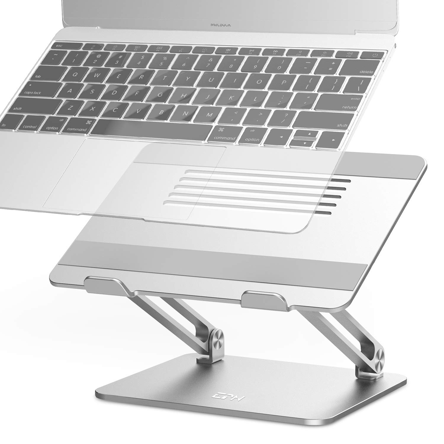 Adjustable Laptop Stand, EPN Laptop Riser with Heat-Vent to Elevate Laptop, Aluminum Notebook Holder Compatible for MacBook Pro/Air, Surface Laptop, Dell XPS, HP, Samsung, Lenovo, Other 11-17.3 Inches by EPN