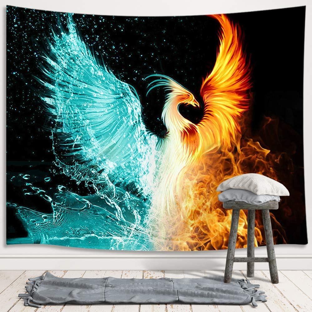 23,6x35,4 Zoll Kein Rahmen WSHIYI Feuerpfeil Phoenix Bird Art Wings Feuerv/ögel Fantasy Flame Modernes Zuhause Wandkunst Dekor Poster Drucke Bilder-60x90cm