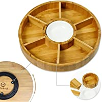 First Grade Bamboo Taco Tray and Appetizer Tray Stand Up Holds 8 Soft or Hard Shell Tacos Also for Tortillas, Burritos