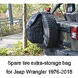 JoyTutus Fits Jeep Wrangler Spare Tire Backpack for JK JKU YJ TJ Cargo Storage Bag