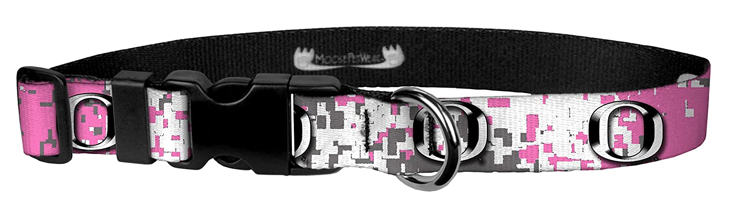 University Oregon Ducks Adjustable Pet Collars Moose Pet Wear Dog Collar Made in The USA 1 Inch Wide
