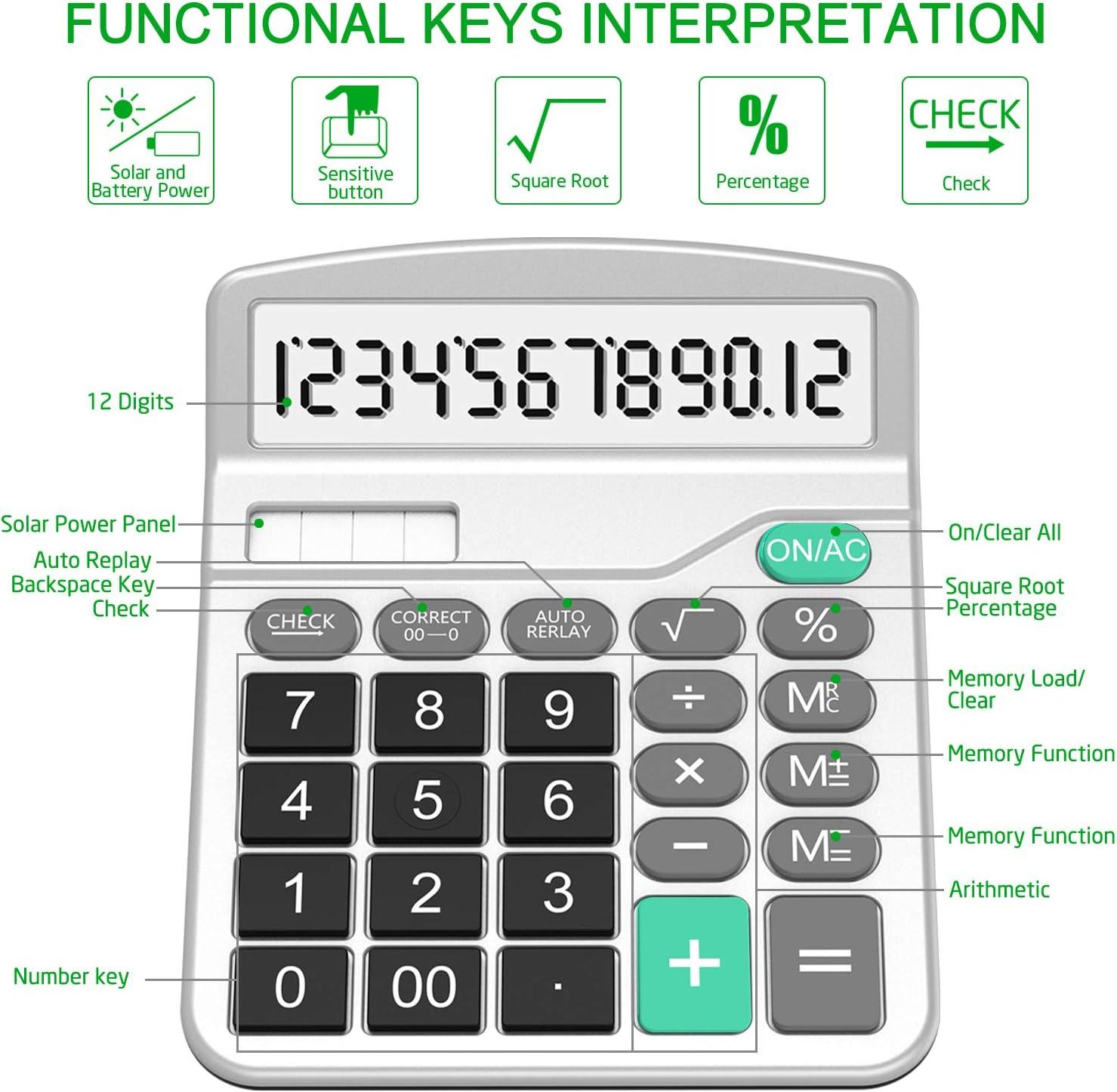 Calculadora Splaks Paquete de 2 Calculadora de escritorio funcional estándar So