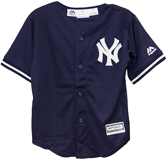 Majestic New York Yankees MLB Toddler Navy Blue White Baseball Jersey  (Toddler 2T) 9c510f684