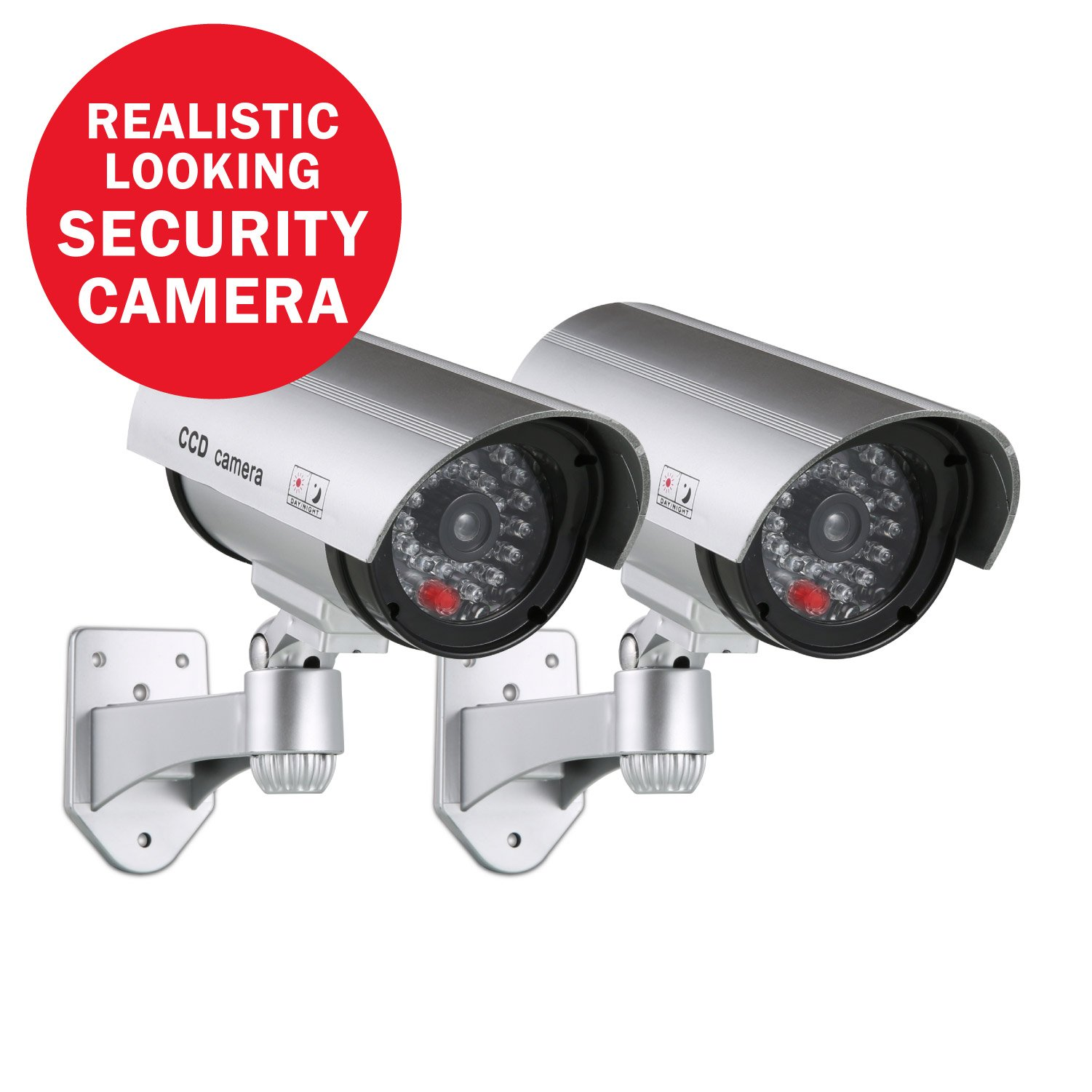 ANNKE 2 Pack Home Security Simulated Cameras with Flashing Red LED for Indoor and Outdoor use by ANNKE (Image #1)