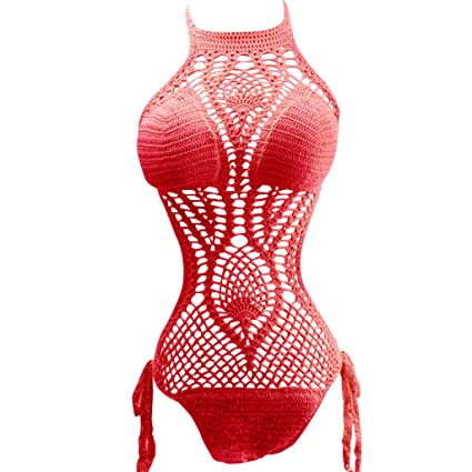 07a9bc7ad6 Amazon.com  European and American Style Sexy Hollow One-piece ...