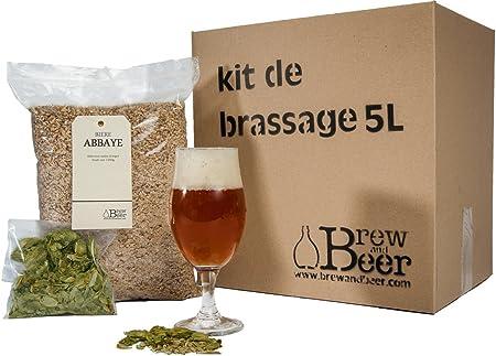 Brewandbeer Juego para fabricar cerveza de abadía (5 L): Amazon.es: Hogar