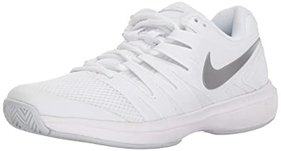 ae3ef0f62828 Nike Women s Air Zoom Prestige Tennis Shoe White Metallic Silver Pure  Platinum Size 6.5
