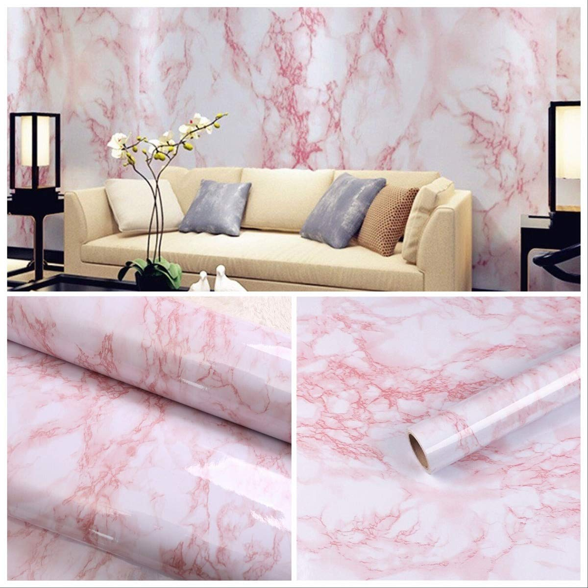 Marble Contact Paper Peel and Stick Tile backsplash Peel and Stick Contact Paper for countertops Marble Sticker Paper Marble Liner Contact Paper Decorative Granite Wallpaper 11.8 x78.7 practicalWs 123465234666
