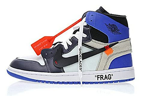 big sale 2f56f 2450a AJORSale Off White X Air Jordan 1 Retro OG Frag Fragment Blue Black Scarpe  da Basket Uomo  Amazon.it  Scarpe e borse