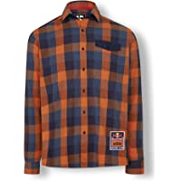 Red Bull KTM Checked Flannel Camisa, Multicolor Hombre