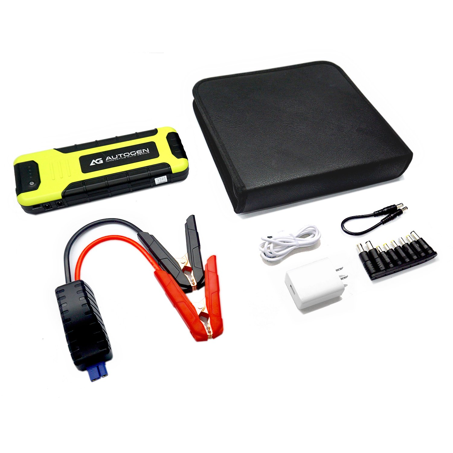 AUTOGEN 2000A Peak Portable Jump Starter for Vehicles (up to 8.0L Gas or 6.5L Diesel) & Quick Charge 3.0 Power Charger, with Mistake-Proof Intelligent Clamps for Cars Boats RVs & Mowers by AUTOGEN (Image #7)
