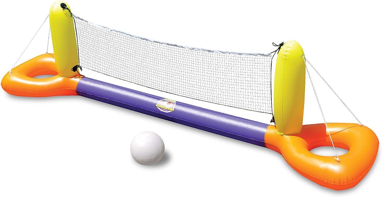 "11.5"" Inflatable Orange und Yellow Floating Volleyball Game für die Swimming Pool"