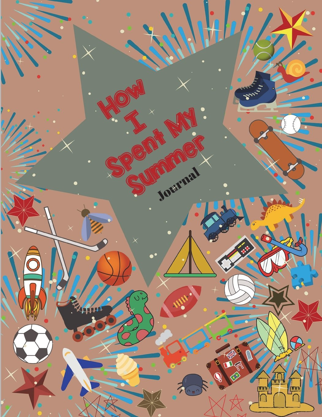Download How I Spent My Summer Journal (Gray): Reduce the chance of summer burnout with creative writing. This self-reflective writing tool will give your young writer a voice.  Use as notebook and sketchbook pdf