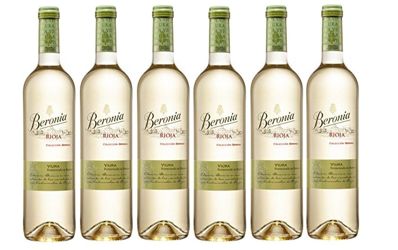 Beronia Viura Fermentado en Barrica - Vino Blanco D.O.Ca. Rioja - 6 Botellas de 750 ml - Total : 4500 ml: Amazon.es: Alimentación y bebidas