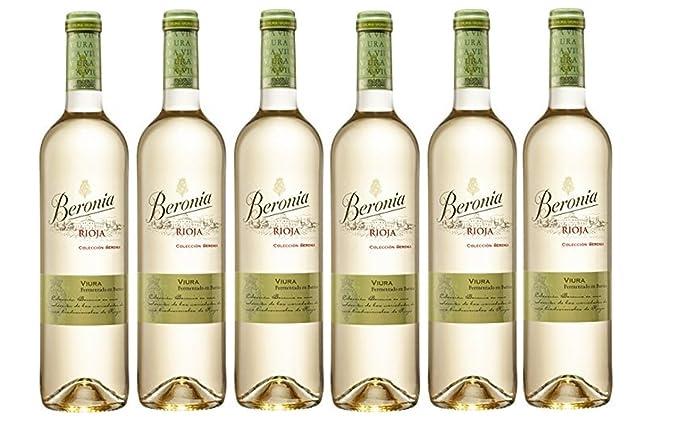 Beronia Viura Fermentado en Barrica - Vino Blanco D.O.Ca. Rioja - 6 Botellas de