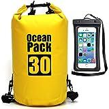 Ksnrang Estanca Impermeable Bolsa para 5L / 10L / 20L / 30L Dry Bag Bolsa Seca Mochila para Kayak, Playa, Rafting, Canotaje, Senderismo, Camping y Pesca