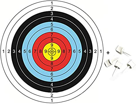 20 X Resin Archery Paper Target Pins Bow Arrow Supplies Face Pins Kit 65mm