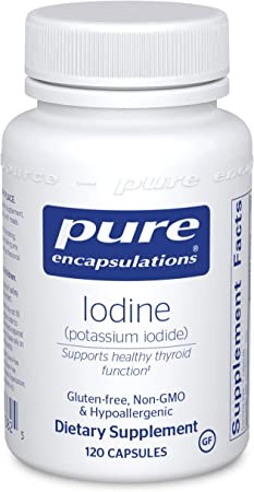 Pure Encapsulations Iodine | Supplement to Support The Thyroid and Maintain Healthy Cellular Metabolism* | 120 Capsules