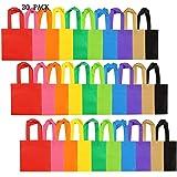 DUO-H 30 Pack Party Bags Bolsa de Regalo no Tejida Bolsas con Asas Party Favor, 8 por 8 Pulgadas, 10 Colores( 20x20cm)
