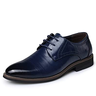 46b7a77c67788b Amazon.com   Carolyn Jones Big Size 37-48 Oxfords Leather Men Shoes Casual  Pointed Top Formal Business Male Wedding Dress Flats Wholesales   Oxfords