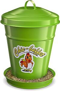 Chic Buffet Poultry Feeder - Chicken Feeder-Food-Waterer-Baby Chicks-Ducks-Wild Birds-Bird Seed-Food-Hamster-Parakeet-Dove-Quail-Rooster-Rabbits-Metal-Galvanized-Steel-Powder Coated-Bird Feed-