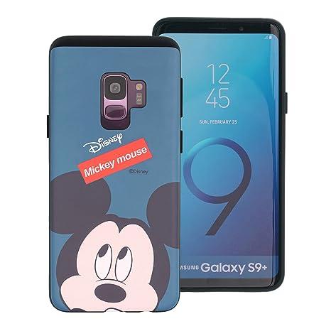 a47d83a874 Galaxy S9 Plus ケース Disney Mickey Mouse ディズニー ミッキーマウス ダブル バンパー ケース/二層
