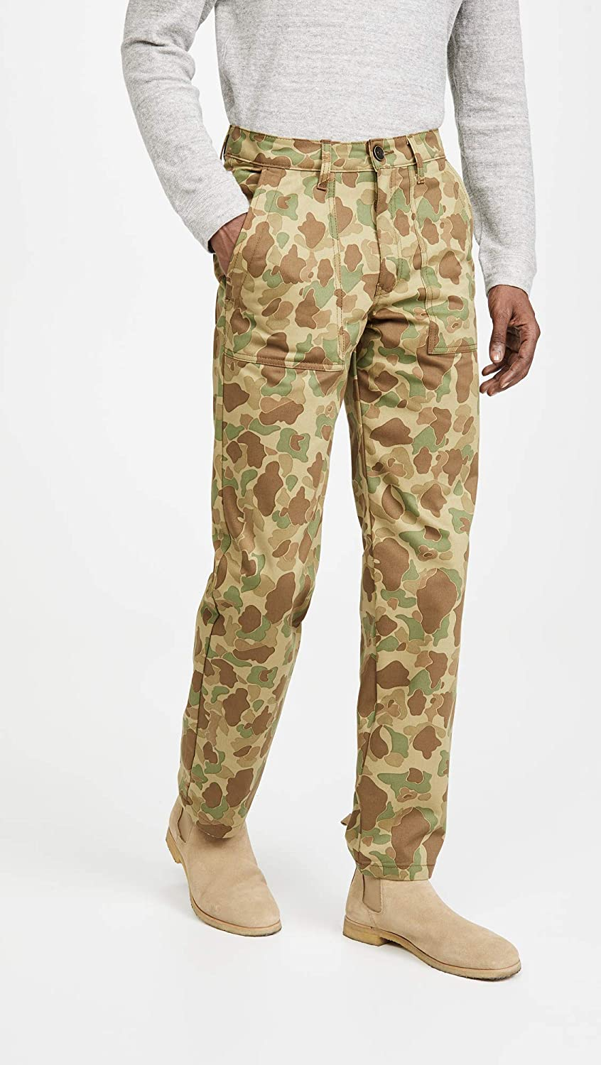 Naked /& Famous Mens Double Sided Camo Work Trousers