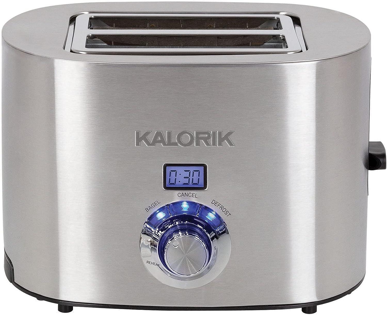 Brookstone Digital 2-Slice Toaster, Stainless Steel
