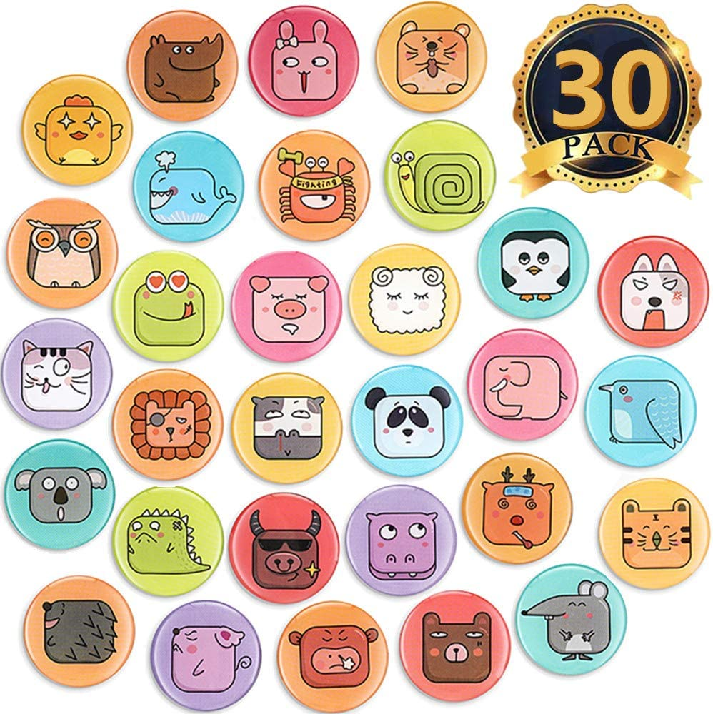MORCART Animal Refrigerator Magnets 30PCS for Locker Fridge Cute Magnets Kitchen School Cabinets Classroom Whiteboard Office Cubicle Magnetic Board Funny Decorative Magnets Gifts for Adults Kids