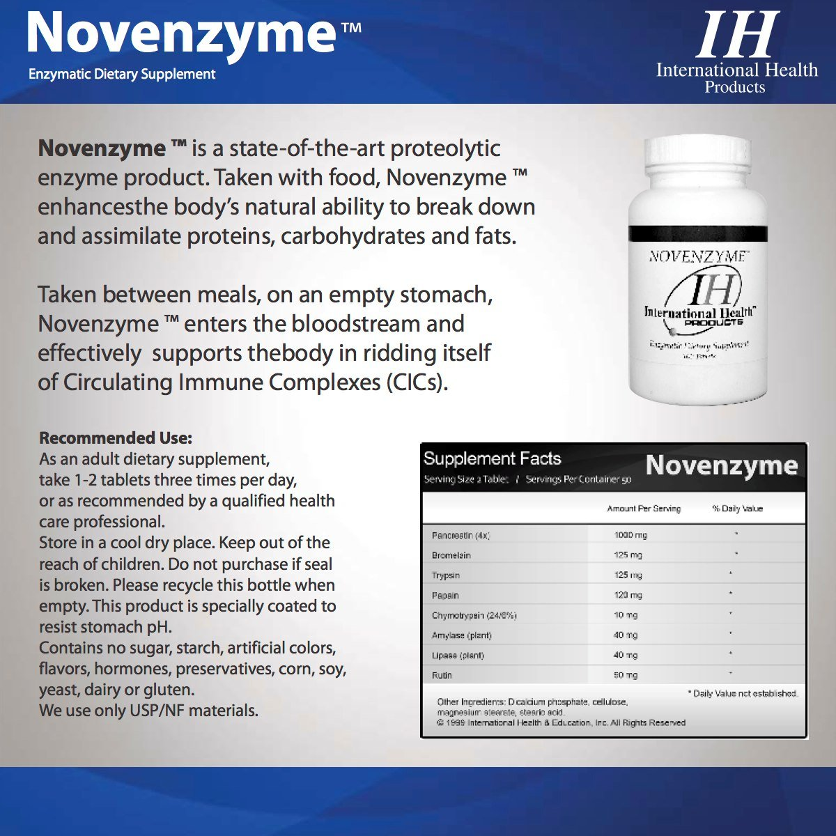 Novenzyme ™ 500 Tablets by Unknown (Image #2)