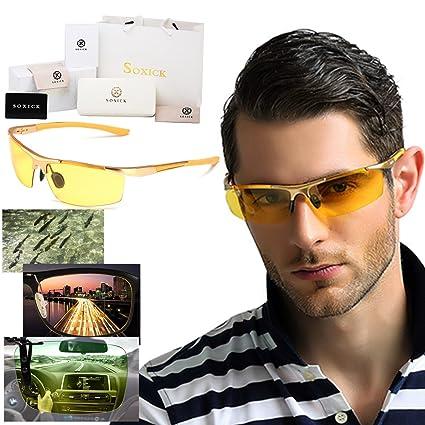 Soxick® HD - Gafas para conducción nocturna, antidestellos, polarizadas, gafas para niebla, nieve o sol: Amazon.es: Deportes y aire libre